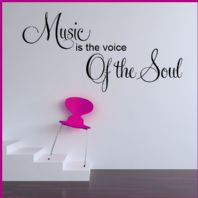 Music is the Voice of the Soul ~ Wall sticker / decals